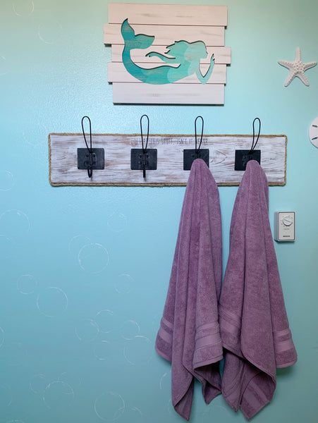 mermaid bathroom decor