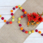 Autumn Festival felt ball garland