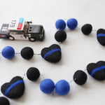 Thin Blue Line  Felt Ball Garland