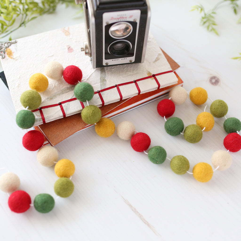 Campground Felt Ball Garland