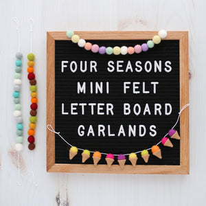 Four Seasons Letter Board Collection