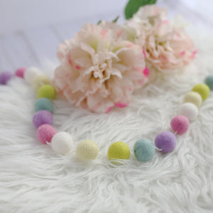 Happy Spring Felt Ball Garland
