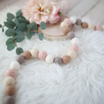 Hygge Blush Felt Ball Garland