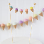 Ice Cream Party Cake Topper