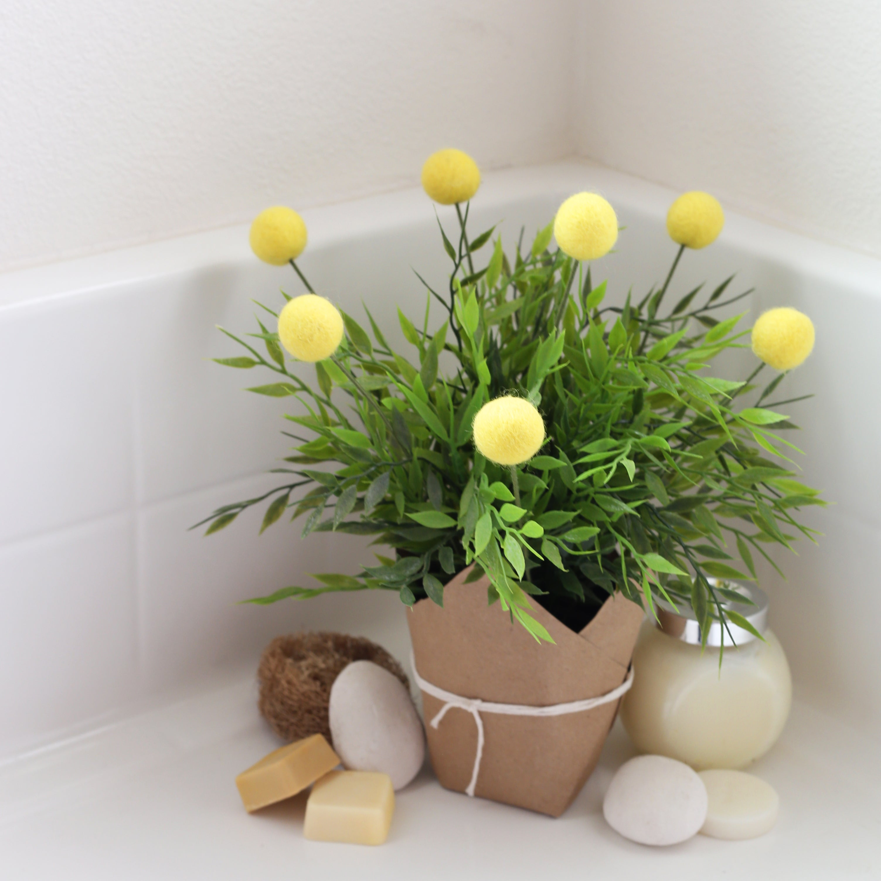 Felt Ball Billy Buttons (Felt Craspedia Flowers)