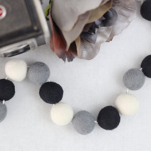 Buffalo Check Felt Ball Garland