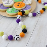 Eye of Newt Halloween Felt Ball Garland