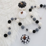 Buffalo Plaid felt ball garland