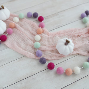 Purple Dusk felt ball garland