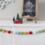 Vintage Christmas felt ball garland