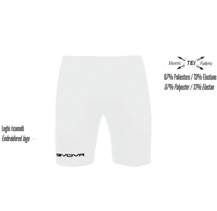Premier Mini Soccer School White Bermuda Skin Shorts