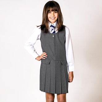 Pleated Front Pinafore - Haven School