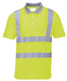 Hi-vis polo shirt
