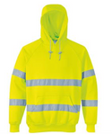 Hi-vis hooded sweatshirt