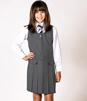 Two Flap Button Pinafore