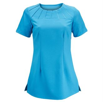 Women's satin trim tunic