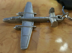 Liberty Aviation Museum B-25 Mitchell airplane keychain