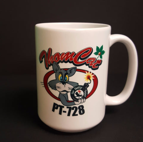 PT-728 Thomcat Logo Ceramic Mug