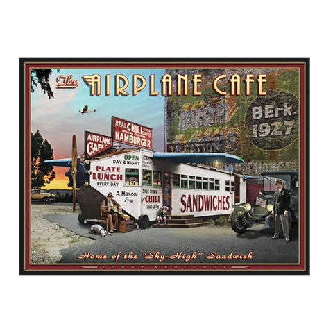 """The Airplane Cafe"" 19 X 25 print by Larry Grossman"