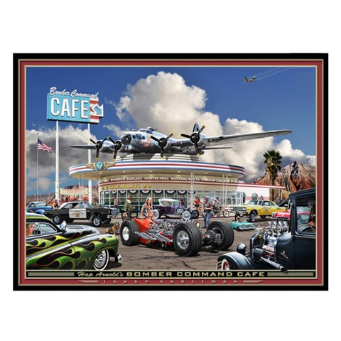 """Hap Arnold's Bomber Command Cafe"" print by Larry Grossman"