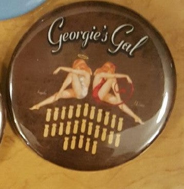 "B-25 ""Georgie's Gal"" Nose Art Button Pin"