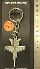 Blue Angels Pewter Keychain