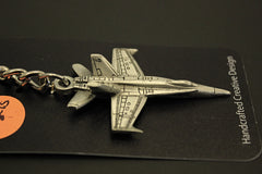 Blue Angels F/A 18 Hornet pewter keychain