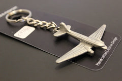 C47 DC3 Airplane Pewter Keychain