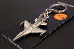 General Dynamics F-16 Fighting Falcon airplane pewter keychain