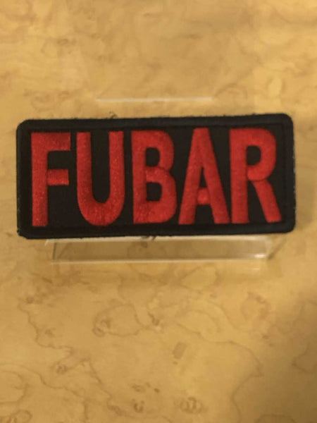FUBAR in red letters Velcro Patch
