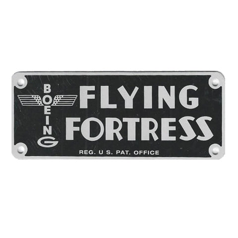 B-17 Flying Fortress Data Plate Reproduction