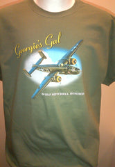 B-25 Georgie's Gal Children's OD Green T-shirt