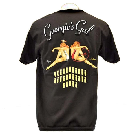 Georgie's Gal B-25 Nose Art Bomber T-Shirt - Back