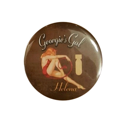 "B-25 ""Georgie's Gal"" Helena Nose Art Button Pin"