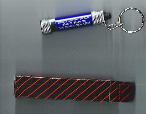 Liberty Aviation Museum LED mini keychain flashlight with box