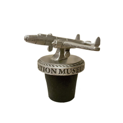 Liberty Aviation Museum's B-25 Mitchell Pewter 3D Bottle Stopper