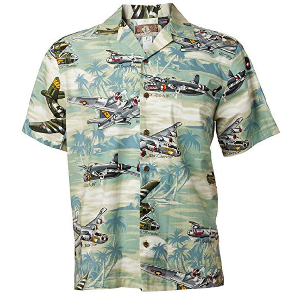 Pacific Bombers Aloha Shirt in Green