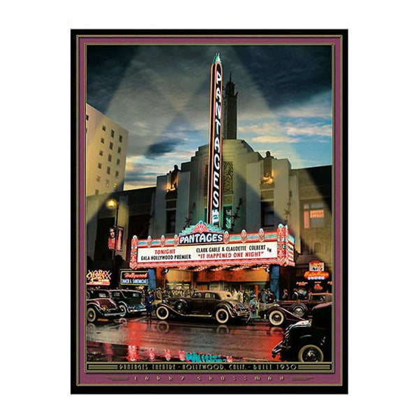 """The Pantages"" 19 X 25 print by Larry Grossman"