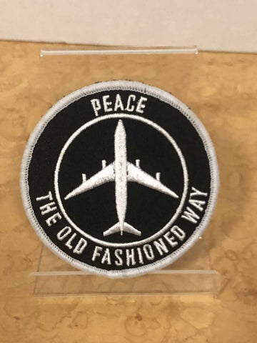 Peace The Old Fashioned Way  velcro patch