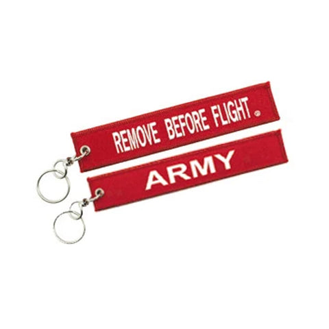 Remove Before Flight Army Keychain