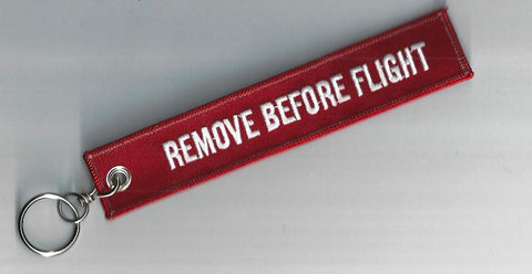 RBF Remove Before Flight keychain