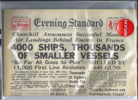 D-Day Landings Reproduction Newspaper Evening Standard