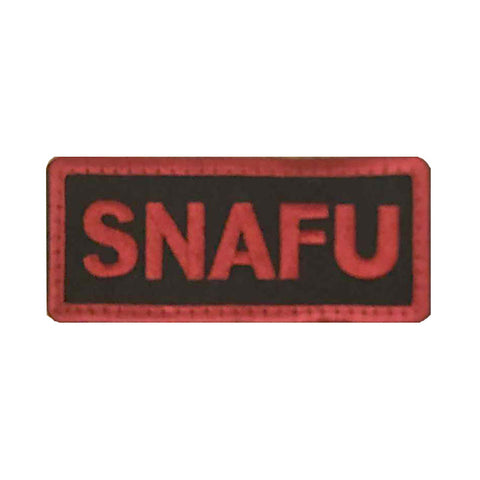 SNAFU in red lettering  Velcro Patch