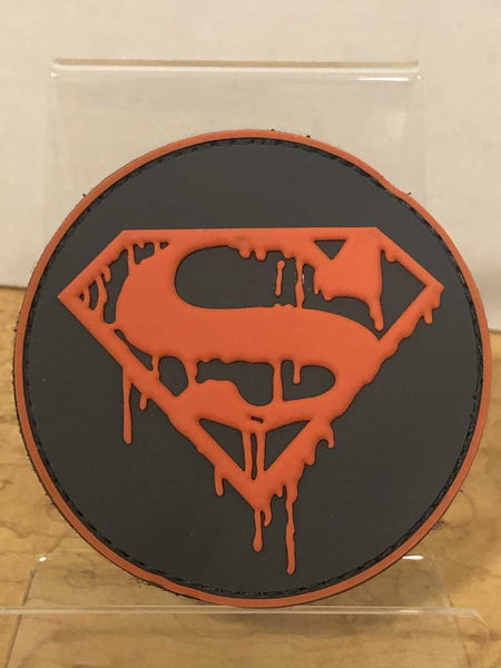 Superman dripping  Velcro Patch