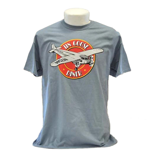 100% cotton T-Shirt with the Tin Goose Diner Logo