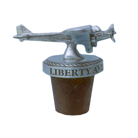 Liberty Aviation Museum's Ford Tri-Motor Pewter 3D Bottle Stopper