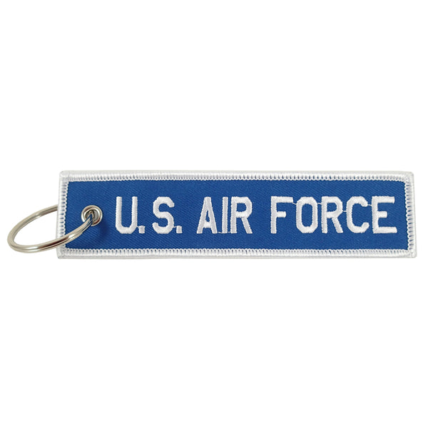U.S. Air Force blue/white embroidered keychain