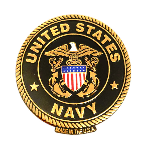 2 1/2 inches wide. Featuring the United States Navy logo.