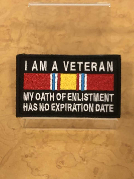 I Am A Veteran American   Velcro Patch