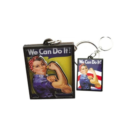 2D Rosie The Riveter epoxy keychain